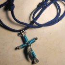 Horse Shoe Cross Necklace - Angel Wing
