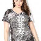 NWT womens $40 bandana embellished AVENUE knit tee blouse 4X 3X plus top shirt