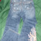 girls Juniors Women S.O. EMBROIDERED Destructed cotton Jeans SIZE 3 WAIST 30""