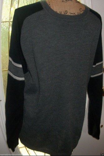 $48 URBAN UP Pipeline clothing KNIT sweater top mens Medium black gray sweater