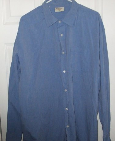 $40 blue shirt vintage inspired Steve & Barrys Quality long sleeve XL button top