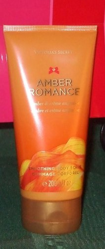 New Amber creme Romance beauty bath Body Scrub sqeeze 7 oz  Victoria Secret