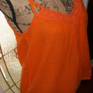 $50 cotton tie back CROCHET cami blouse SUGAR 17 sleeveless strap medium top new