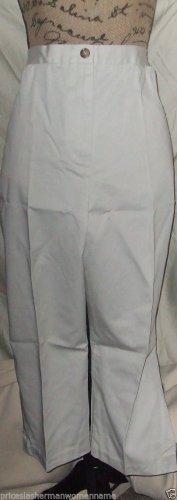 New $55 Capri light stone khaki Lands End size 18 pleated short pants slacks