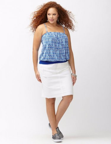 NEW blue cobalt halter tank blouse LANE BRYANT 4X  top