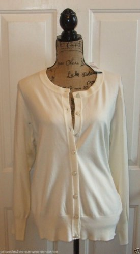SOFT $68 sknit Ivory cardigan blouse sweater PREMISE STUDIO Womens PLUS 0X top