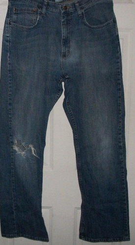 Men Worn till DESTROYED old WRANGLER Original jeans size 36 waist relax boot leg