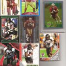 8 49ERS  4 MIKE CRABTREE RCs FRANK GORE RC P.WILLIS Ref ARNEZ BATTLE RC Grade 10