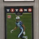 Chrome CHRIS JOHNSON titans jet RC GRADED gem mint 10 football card Topps #TC186