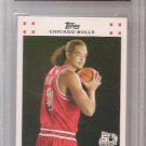 2007 JOAKIM NOAH graded gem 10 RC Bulls Topps #9 set RC 50TH Ann basketball card