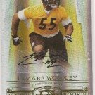 Lamarr Woodley /200 NFL Steeler Raider Do Threads gold Auto rookie football card