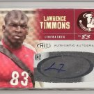 Lawrence Timmons autograph RC Pittsburgh Steelers Florida St football card auto