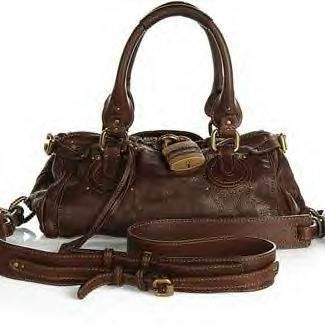 DARK CHOC LEATHER BAG WITH SHOULDER STRAP