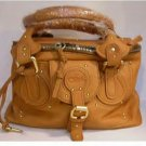 LEATHER COSMETIC BAG IN TRUE WHISKEY COLOUR