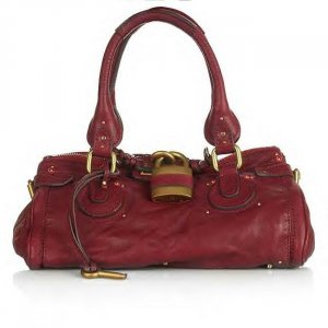LEATHER BAG IN TRUE PLUM RED