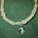 Macrame Necklace w/Mushroom Bead (MJ017)