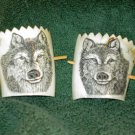 Scrimshaw Hair Ties w/Wolf Design (SS011)