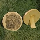 Scrimshaw Decor Disk w/Bear Design (SS012)