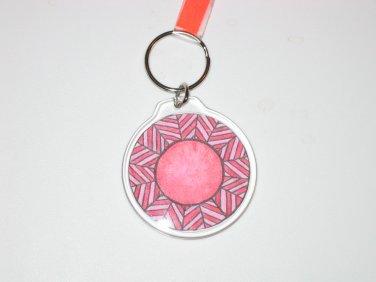 Round Key Ring w/Starburst Design (KR006)