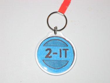 Round Key Ring w/Round 2 It Design (KR009)
