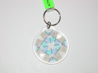 Round Key Ring w/Snowflake Design (KR025)