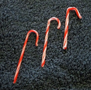 Hand Blown Glass Candy Canes (GL011)