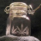 Square Nug Jug With Pot Leaf Etching (EG013)