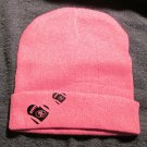 Hot Pink Football Beanie Hat (MC005)