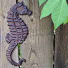 Distressed Metal Work Seahorse Plaque Sea Monster Fish Sculpture Marine Art Rust