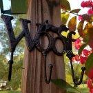 Rustic Puppy Dog Statue Plaque Utility Hook Utensil Hanger Metal Rack Wall Art Distressed