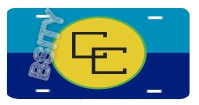 CARICOM CARRIBEAN COMMUNITY FLAG VANITY AUTO LICENSE PLATE
