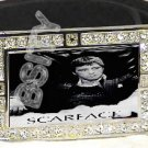 SCARFACE TONY MONTANA ICED OUT BLING CZ CHARM BELT BUCKLE