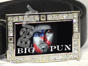 BIG PUN CHRIS RIOS ICED OUT BLING CZ CHARM BELT BUCKLE