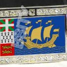 Saint Pierre Miquelon FLAG BLING ICED OUT CZ -FREE BELT- BUCKLE