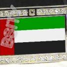 UNITED ARAB EMIRATES UAE FLAG BLING ICED OUT CZ -FREE BELT- BUCKLE