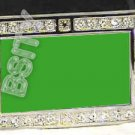 LIBYA LIBYAN FLAG BLING DARK CZ -FREE BELT- BUCKLE