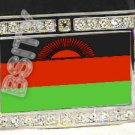 MALAWI Malawian FLAG BLING ICED OUT CZ -FREE BELT- BUCKLE