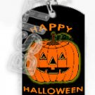 HAPPY HALLOWEEN PUMPKIN Dog Tag KEY CHAIN FOR COSTUME