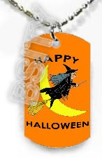 HAPPY HALLOWEEN WITCH Dog Tag KEY CHAIN FOR COSTUME