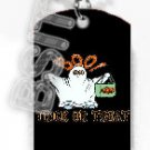 BOO GHOSTS HALLOWEEN Dog Tag KEY CHAIN FOR COSTUME