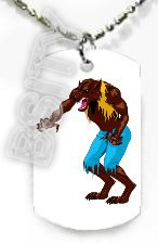 WEREWOLF MAN HALLOWEEN Dog Tag KEY CUTE CHAIN FOR COSTUME