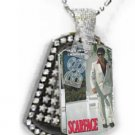Iced OUT CZ SCARFACE SUIT Dog Tag BLING CHARM PENDANT