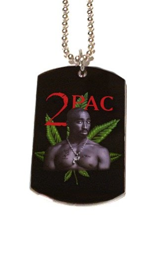 2PAC TUPAC WEED PHOTO PICTURE Dog Tag Dogtag Charm