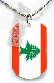 LEBANON Lebanese Republic FLAG Dog Tag
