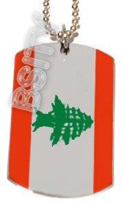 LEBANON LEBANESE Flag Dog Tag DOGTAG Silver Charm