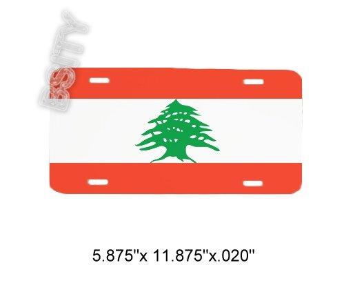 LEBANON Lebanese Republic FLAG FULL COLOR LICENSE PLATE