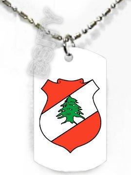 LEBANON Lebanese Republic COAT ARMS FLAG Dog Tag CHARM