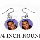 CHRIS BROWN PHOTO FISH HOOK CHARM Earrings
