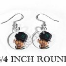 CHRIS BROWN PHOTO FISH HOOK CHARM Earrings #2