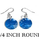 DOLPHIN MOONLIGHT OCEAN PHOTO FISH HOOK CHARM Earrings